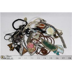 COSTUME JEWELRY INCLUDING POLISHED STONES