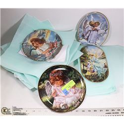 ANGEL PLATES WITH HANGERS BY SANDRA KUCK ,