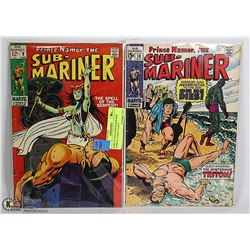 RARE #9 AND #18 SUB-MARINER COMICS 12 AND 15 CENT