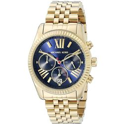 NEW MICHAEL KORS BLUE DIAL LEXINGTON MSRP $340