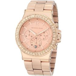 NEW MICHAEL KORS BAGUETTE CRYSTAL BEZEL MSRP $395
