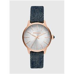 NEW DIESEL 38MM GLITTER DIAL DENIM STRAP MSRP$229
