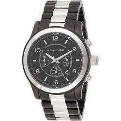 NEW MICHAEL KORS 45MM 2-TONE 3-CHRONO MSRP $370