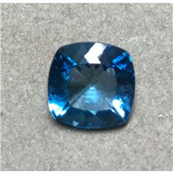 4.73cts Natural Blue Topaz Cushion Cut Gemstone