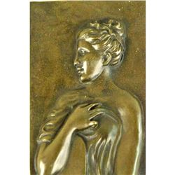 Bronze Bas Relief Wall Sculpture, Roman Water Bearer