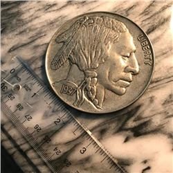 1970's Novelty Coin, Paperweight, Jumbo 1937 Indian Head Nickel