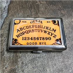 Ouija Board Spirits Stainless Steel Novelty Business Card Case Wallet