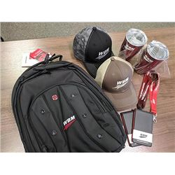 Weldco Beales backpack with WBM branded goodies