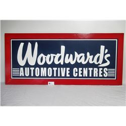 "Custom Made Woodward's Sign 55"" x24"" x3/4"""