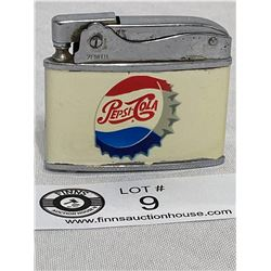 Vintage Pepsi Cola Bottlecap Flat Lighter.Zenith Made In Japan