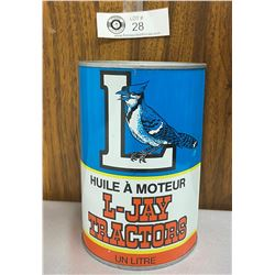 L-Jay Tractors Motor Oil One Litre Can