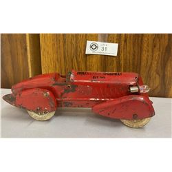 Rare 1930s Souvenir Indianapolis Speedway Wyandotte Pressed Steel Race Car