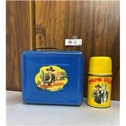 1950s Hopalong Cassidy Blue Metal Lunch Box With Thermos
