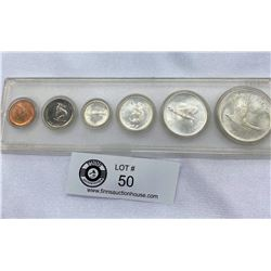 1967 Canadian Silver Coin Year Set In Plastic Holder