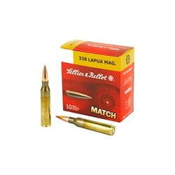 S& B 338LAPUA 250GR SIERRA HPBT - 10 Rds