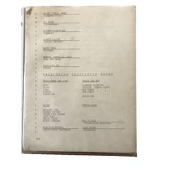 Space Patrol TV 1952 Script