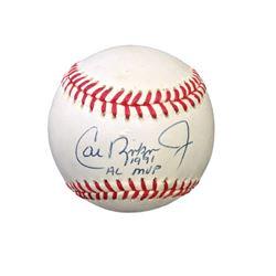 """Official League Cal Ripken Jr.  """"AL MVP 1991"""" signed baseball"""