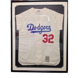 Dodger Sandy Koufax Signed Jersey Framed