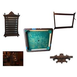 Candie Plantation Pool Table Movie Props