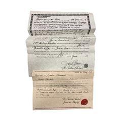 Django Broomhilda (Kerri Washington) Freedom Papers Movie Props