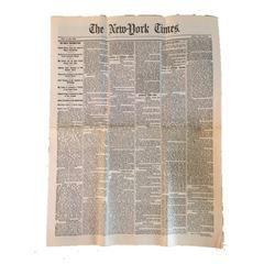 Gangs of New York Newspaper Movie Props