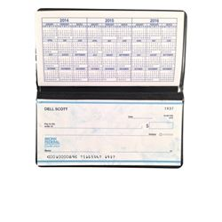 The Upside Dell Hart (Kevin Hart) Checkbook Movie Props