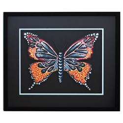 "Patricia Govezensky- Original Painting on Laser Cut Steel ""Butterfly CCXVI"""