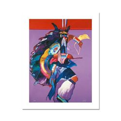 """Traditional Dancer II"" is a Limited Edition Giclee on Canvas by John Nieto, Numbered 1/500 and Hand"