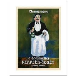"Guy Buffet, ""Le Sommelier"" Serigraph on Paper."