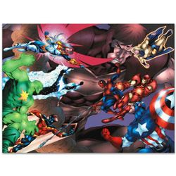 "Marvel Comics ""New Thunderbolts #13"" Numbered Limited Edition Giclee on Canvas by Tom Grummett with"