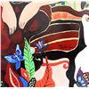 "Image 7 : Patricia Govezensky- Original Painting on Cutout Steel ""Expression"""
