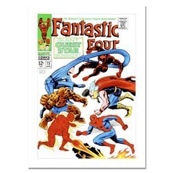 "Marvel Comics, ""Fantastic Four #73"" Numbered Limited Edition Canvas by Jack Kirby (1917-1994) with C"