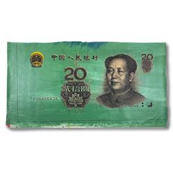 Steve Kaufman (1960-2010),  Chinese Money  Hand Signed and Numbered Limited Edition Hand Pulled silk