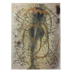 """Salvador Dali- Original Gouaches with Original Engravings """"The Angel of Alchemy"""""""