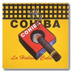 "Steve Kaufman (1960-2010), ""COHIBA"" Hand Signed and Numbered Limited Edition Hand Pulled silkscreen"