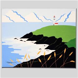 """Fisherman's Lighthouse"" Limited Edition Giclee on Canvas by Larissa Holt, Numbered and Signed. This"