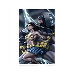 """Batman and Wonder Woman"" Numbered Limited Edition Giclee from DC Comics & Stanley Lau with COA"