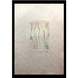 """Salvador Dali- Original Engravings in color """"Le Diable en Enfer"""""""