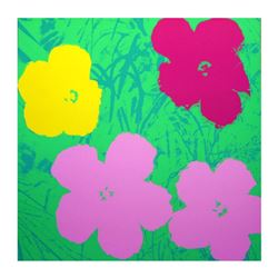 "Andy Warhol ""Flowers 11.68"" Silk Screen Print from Sunday B Morning."