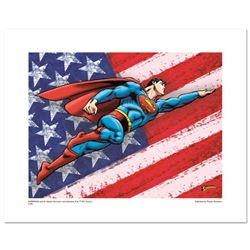 """Superman Patriotic"" Numbered Limited Edition Giclee from DC Comics with Certificate of Authenticity"