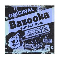 "Gail Rodgers, ""Bazooka Joe"" One-of-a-Kind Hand-Pulled Silkscreen Mixed Media on Canvas, Hand Signed"