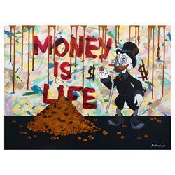 """Nastya Rovenskaya- Mixed Media """"Money is Life"""""""