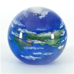 Glass Eye Studios,  Earth  Hand Blown Glass Paperweight (Second).