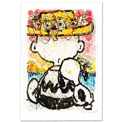 Mon Ami  Limited Edition Hand Pulled Original Lithograph by Renowned Charles Schulz Protege, Tom Ev