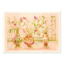 """Edna Hibel (1917-2014), """"Chinese Vase"""" Limited Edition Lithograph (41.5"""" x 29.5""""), Numbered and Hand"""