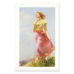 Pino (1939-2010)  Wind Swept  Limited Edition Giclee. Numbered and Hand Signed; Certificate of Authe