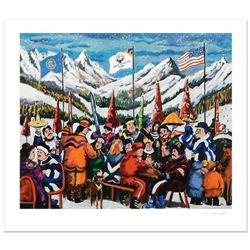 """Guy Buffet, """"Salt Lake City 2002"""" Limited Edition Serigraph; Numbered and Hand Signed with Certifica"""