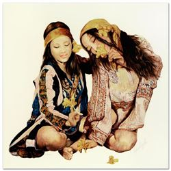 "Popo & Ruby Lee, ""Sisters"" Limited Edition Serigraph, Numbered and Hand Signed by the Artist."
