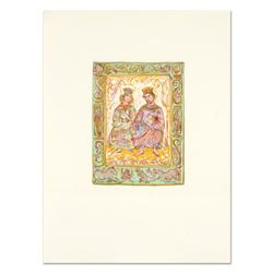 Edna Hibel (1917-2014),  Dialogue of David and Bathsheba  Limited Edition Lithograph with Remarque,