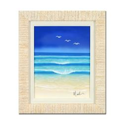 "Dan Mackin, ""Flying High"" Framed Original Painting on Canvas, Hand Signed with Letter of Authenticit"